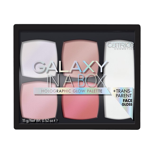CATRICE GALAXY IN A BOX HOLOGRAPHIC GLOW PALETTE ПАЛЕТКА ХАЙЛАЙТЕРОВ